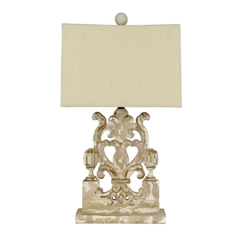 Wylie Carved Wood Table Lamp | Lillian Home | Buy Now