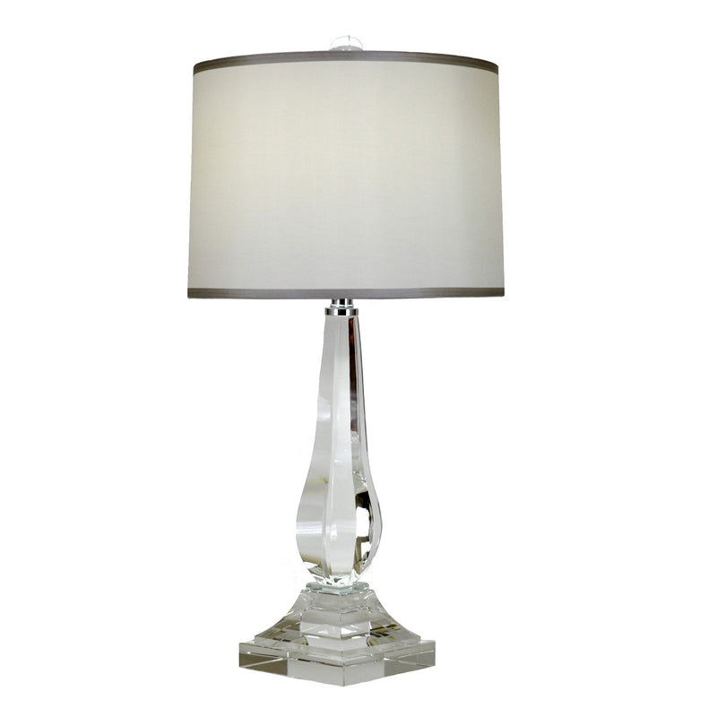 Erin Crystal Base Wood Table Lamp - Lillian Home