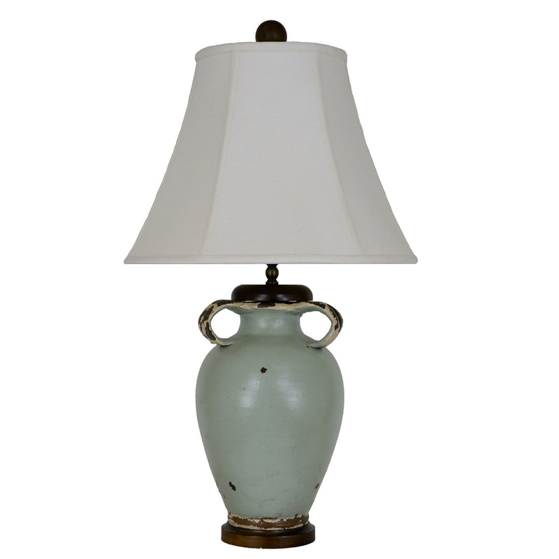 Jacey Turquoise Pottery Table Lamp - Lillian Home