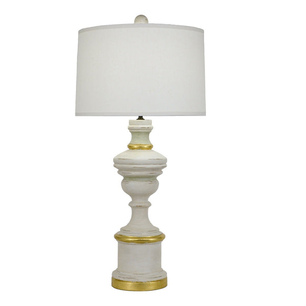 Harper Solid Wood White Table Lamp - Lillian Home