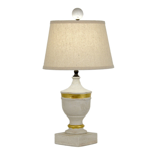 Frederick Solid Wood White Lamp - Lillian Home