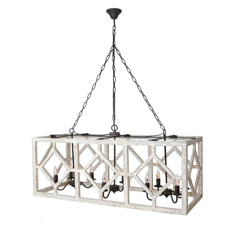 Myrtle 10 Light Rectangular Pendant Light - Lillian Home