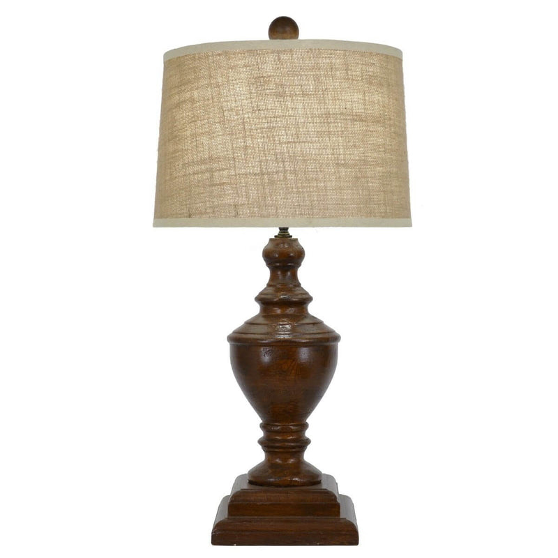 Adele Dark Brown Table Lamp - Lillian Home