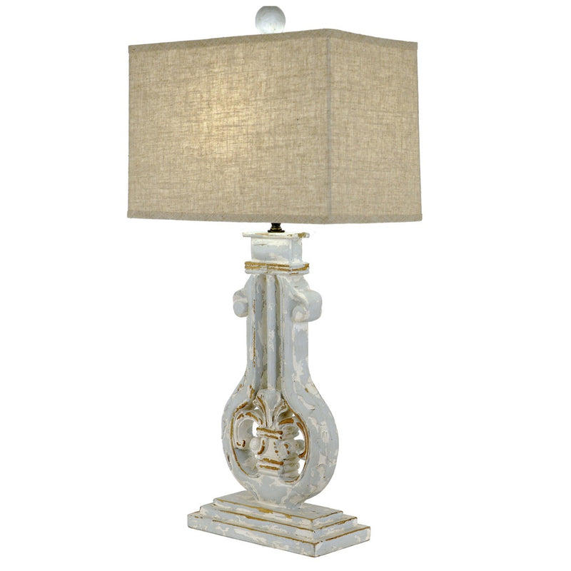 Lillian Home Daphne Carved Wood Table Lamp