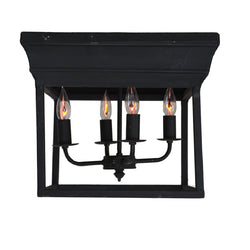Alie 4 Light Black Flush Mount - Lillian Home