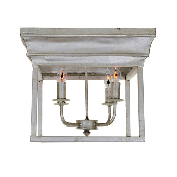 Alie 4 Light Silver Flush Mount - Lillian Home