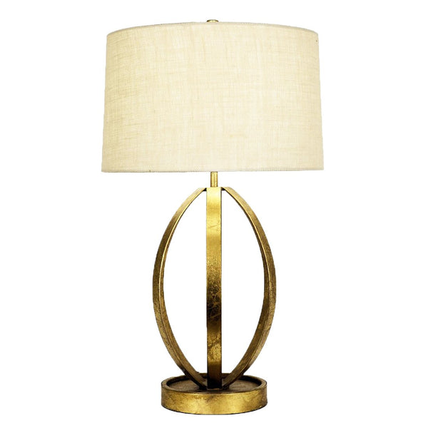 Ana Gold Leaf Table Lamp- Lillian Home