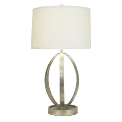 Ana Silver Leaf Table Lamp- Lillian Home