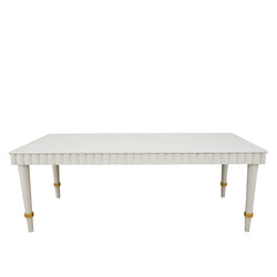 Anne Off White Solid Oak Dining Table- Lillian Home