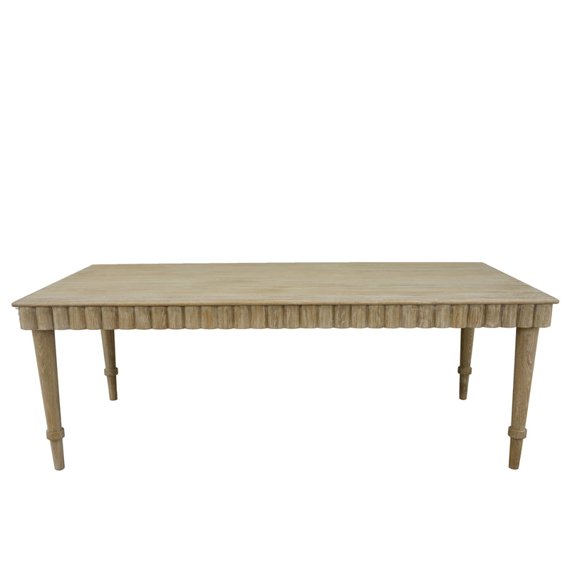 Anne Solid Oak Dining Table- Lillian Home