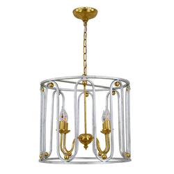 Asanna 4 Light Silver and Gold Lantern- Lillian Home