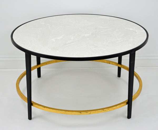 Augustine Black and Gold Round Coffee Table