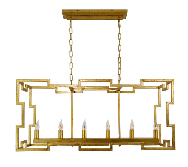 Aura 6 Light Gold Island Pendant- Lillian Home