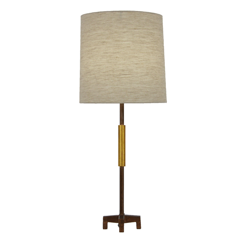 Ayla Brown and Gold Table Lamp- Lillian Home