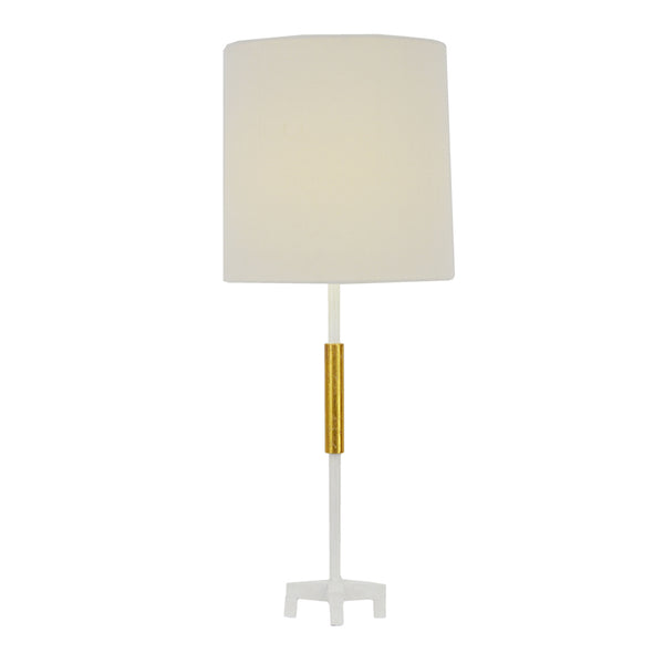Ayla White and Gold Table Lamp- Lillian Home