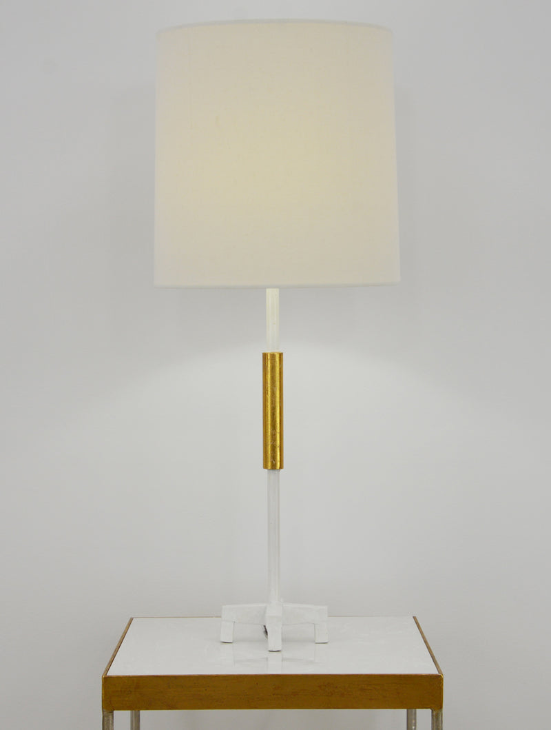 Ayla White and Gold Table Lamp