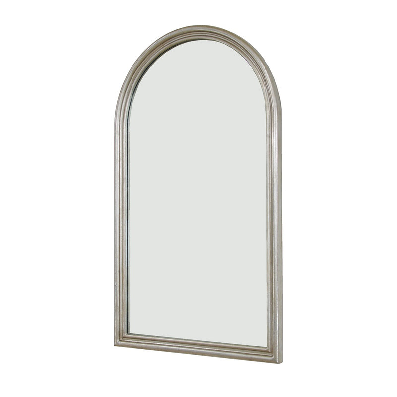 Ayla Silver Leaf Wall Mirror | Louis Philippe Mirror