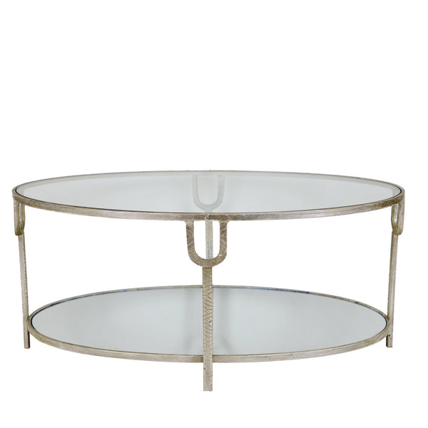 Blanca Silver Open Coffee Table with 2 Shelves - Lillian Home