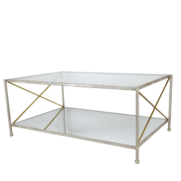 IRIS SILVER LEAF COCKTAIL TABLE