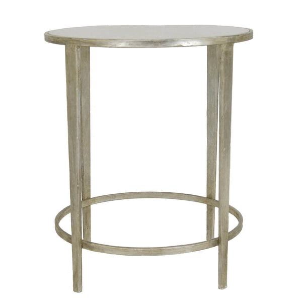 DOLLY SILVER LEAF ROUND SIDE TABLE