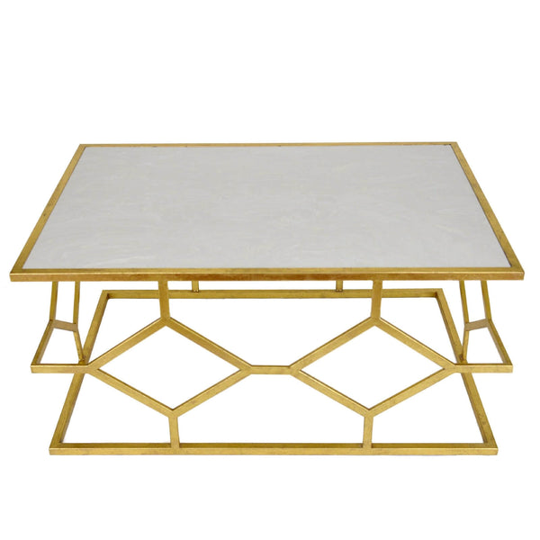 DIAMOND GOLD LEAF COFFEE TABLE