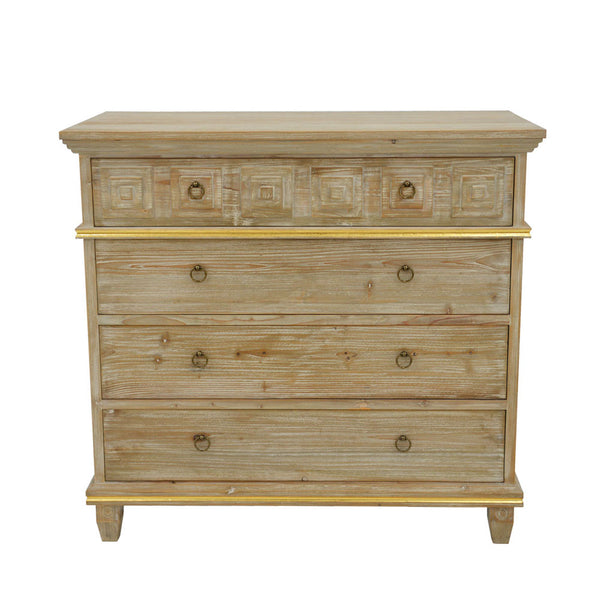 Donatella Solid Wood Dresser- Lillian Home