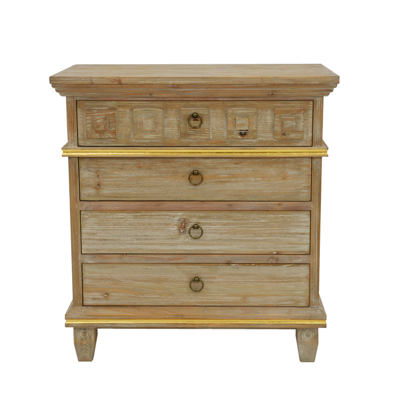 Donatello Wood Nightstand- Lillian Home