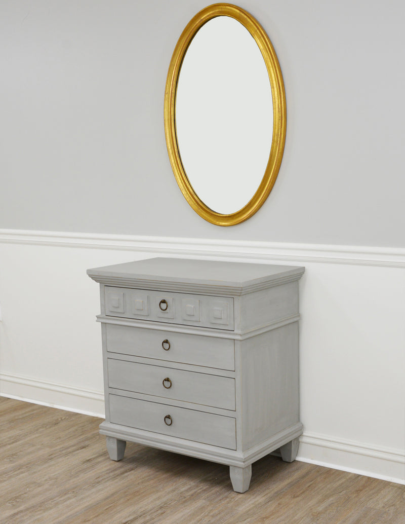 Donatello Gray Nightstand- Lillian Home
