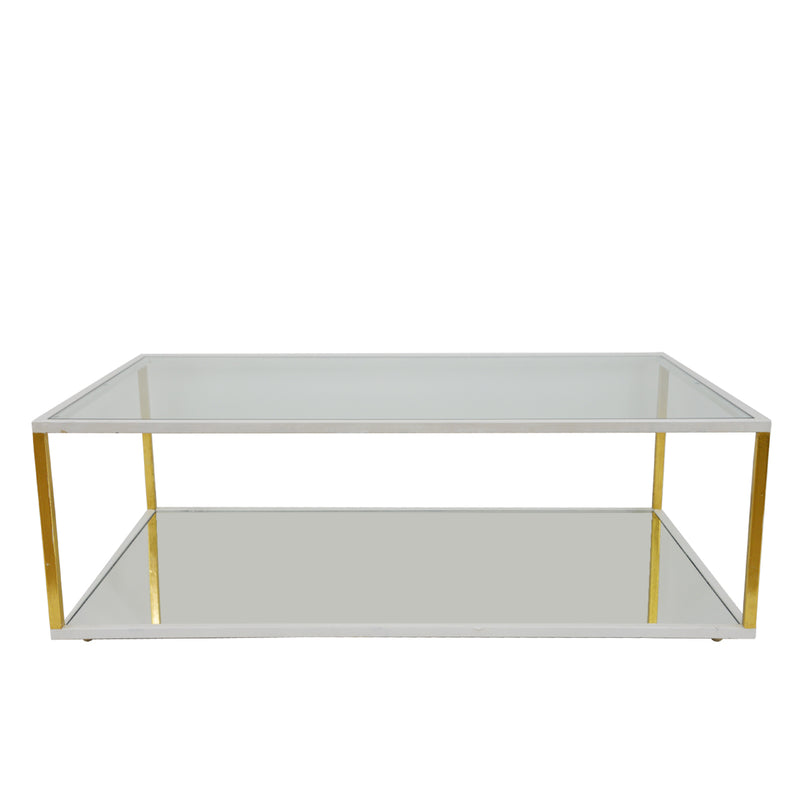 Emily White and Gold Coffee Table- Lillian Home