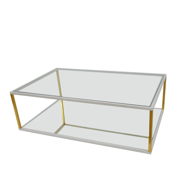 Emily White and Gold Coffee Table