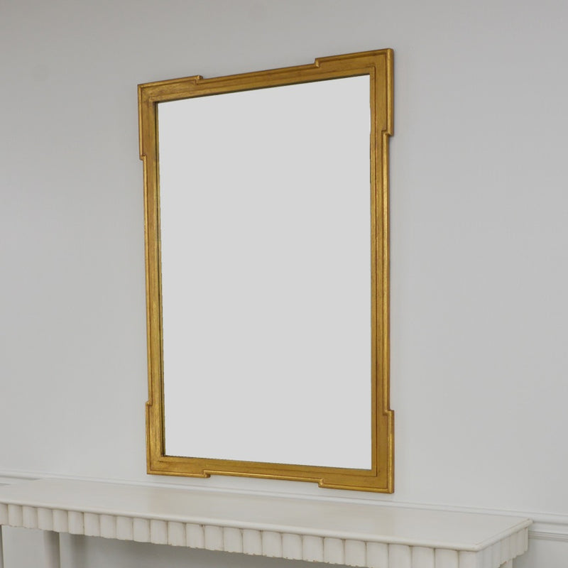 Pari Gold Wall Mirror | Louis Mirror Gold