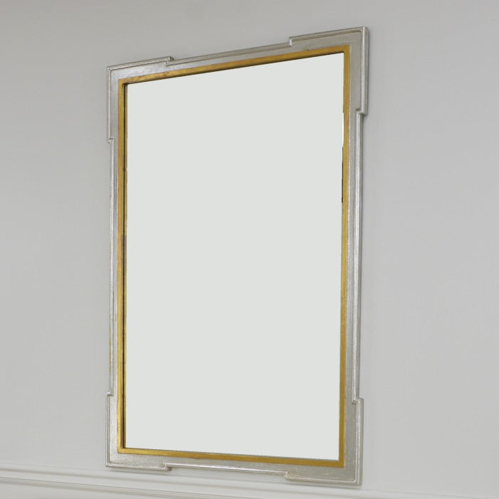 Pari Silver and Gold Wall Mirror | Antique Louis Philippe Mirror
