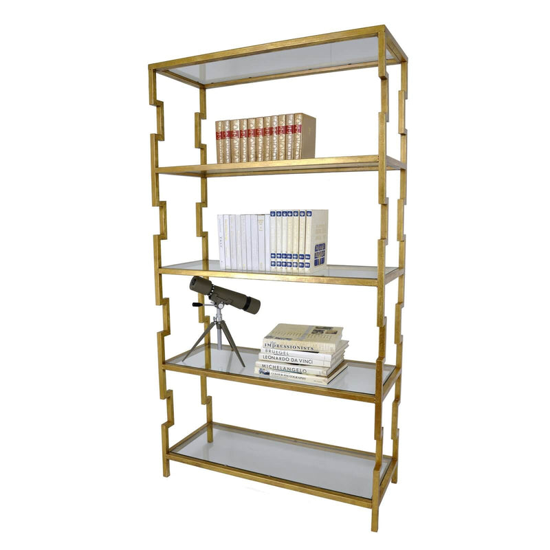 Lazaro Gold Leaf Shelf - Lillian Home