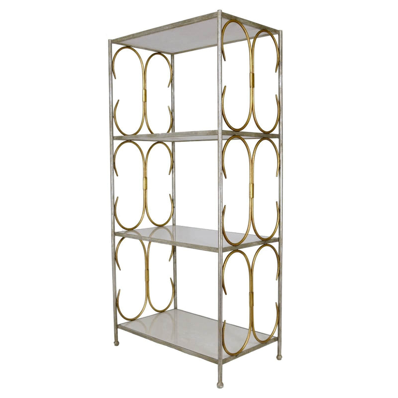 Imara Silver & Gold Stone Top Shelf