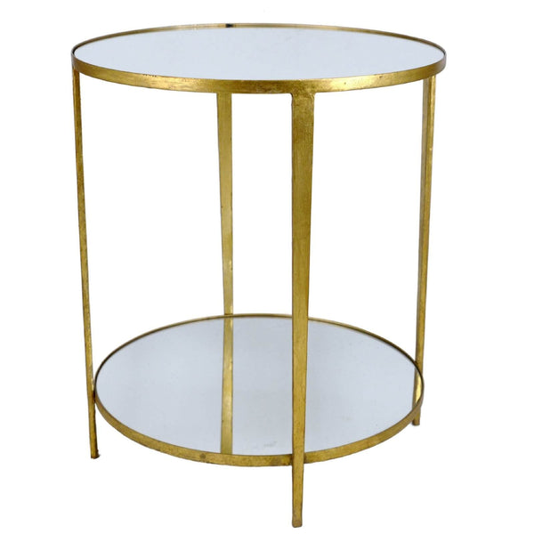 MAE GOLD LEAF SIDE TABLE
