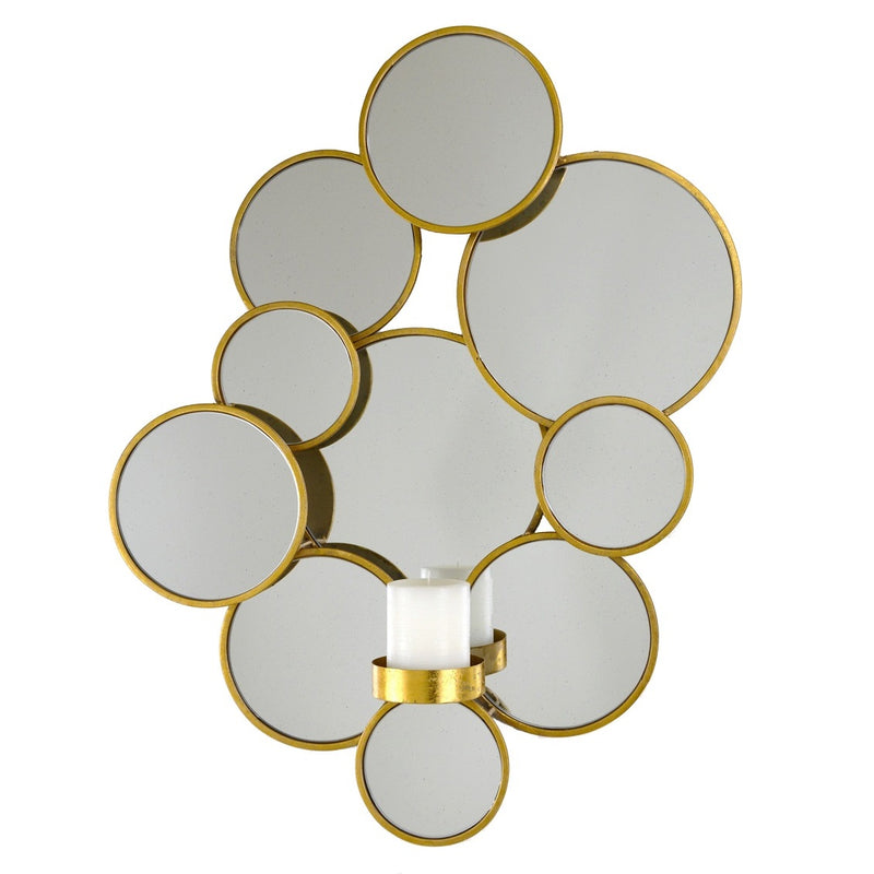 Lulu Gold Leaf Candle Holder - Lillian Home