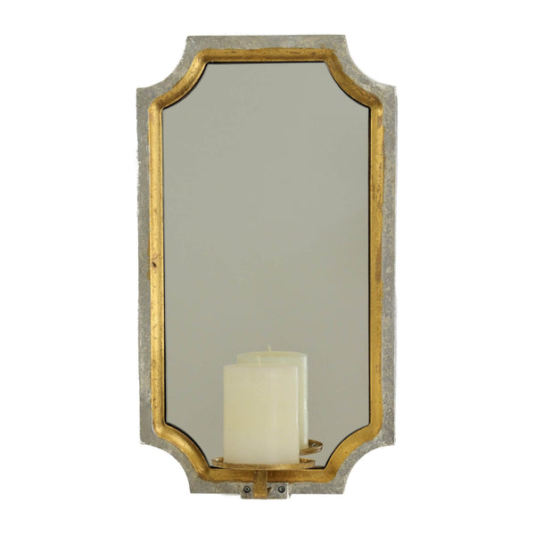 Ponnt Silver & Gold Mirror Wall Candle Holder