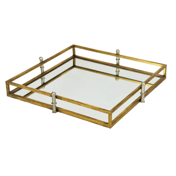 Chelsea Gold Square Tray - Lillian Home