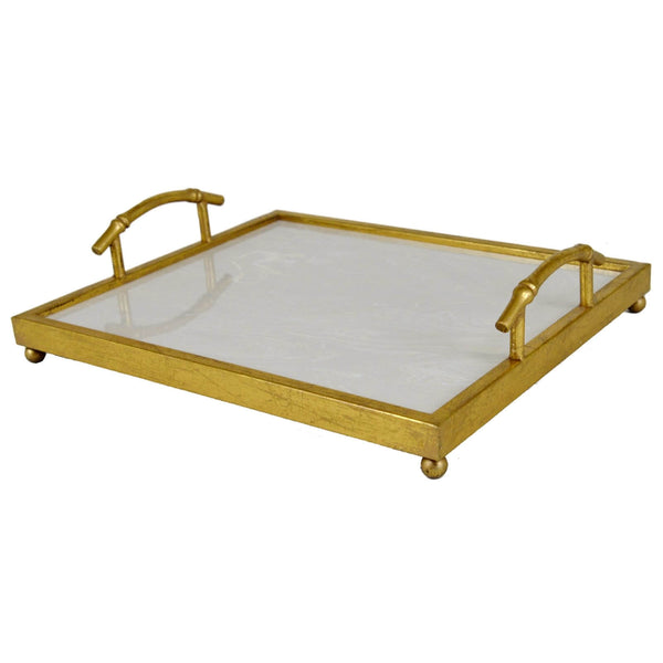 Lalana Gold Leaf Stone Top Tray