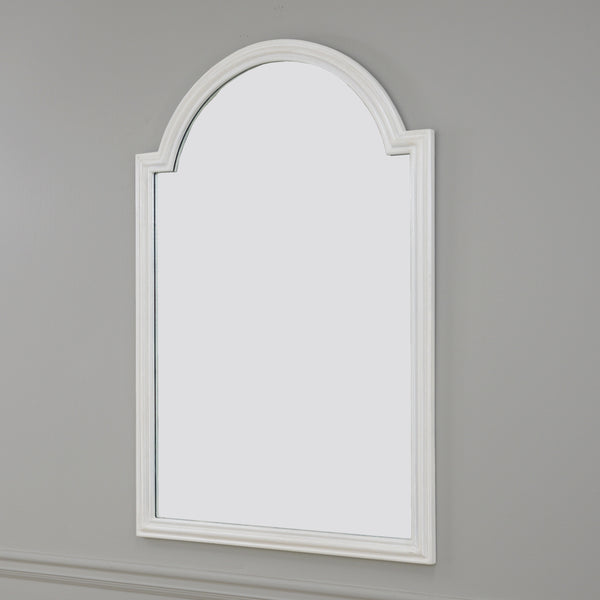 Feru Pearl White Wall Mirror | Lillian Home