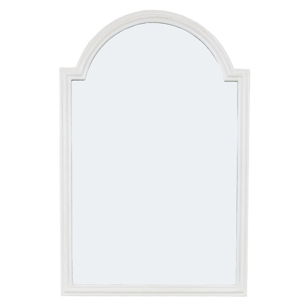 Feru Pearl White Wall Mirror- Lillian Home