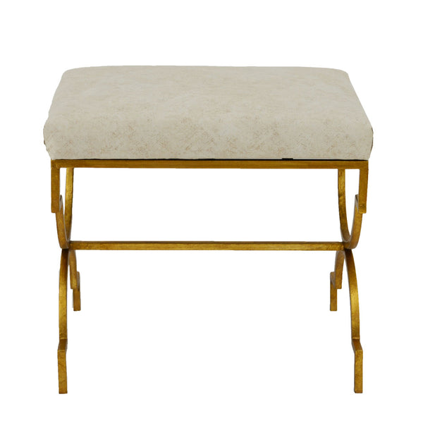 Gerald Small Gold Bench - Lillian Home
