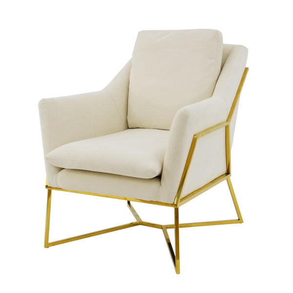 Hazel Gold Accent Chair- Lillian Home