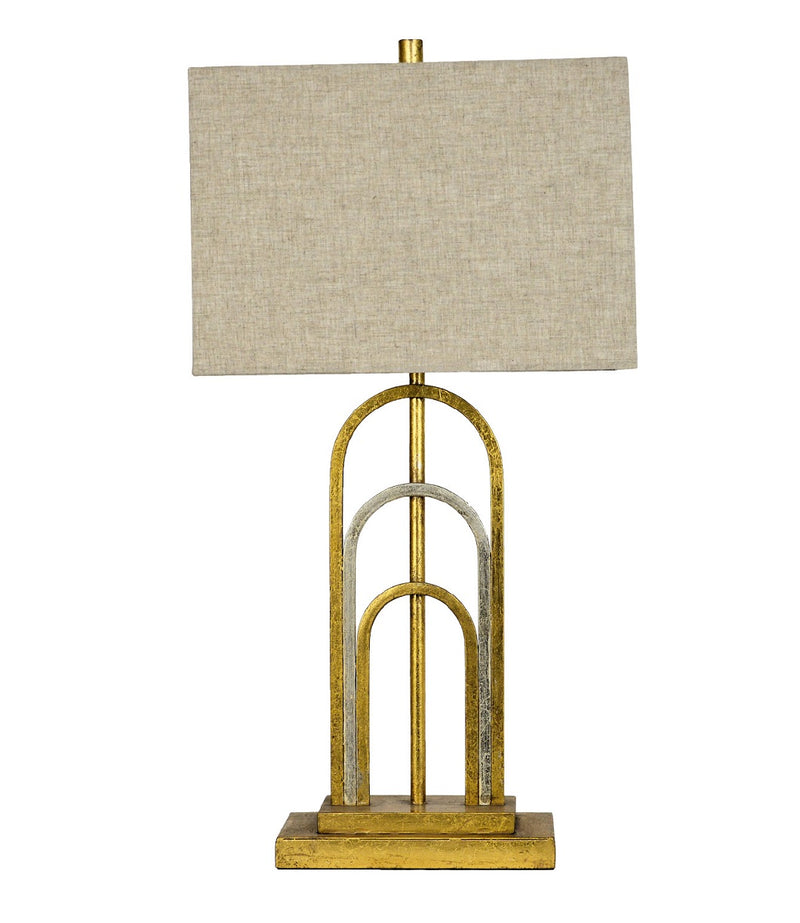 Lillian Home Empire Gold Silver Table Lamp