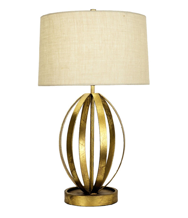 Ana Gold Leaf Table Lamp - Lillian Home