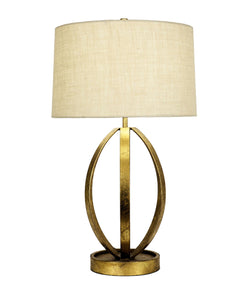 Ana Gold Leaf Table Lamp
