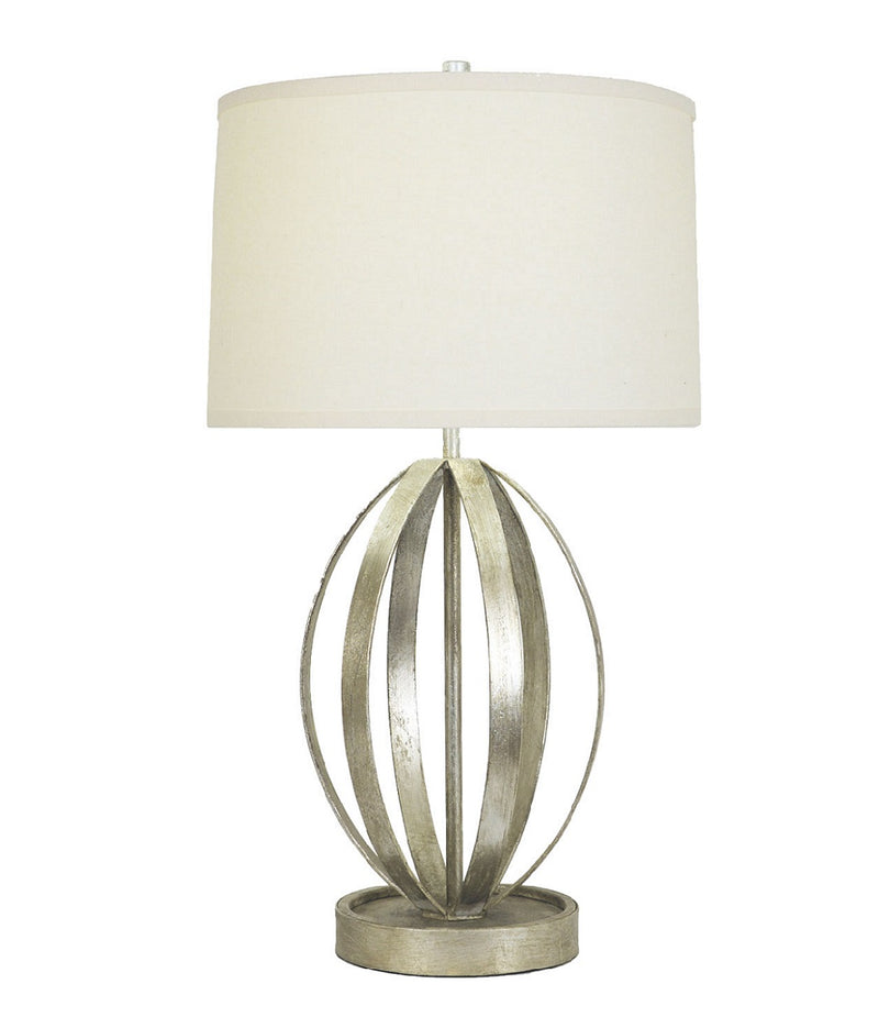 Ana Silver Leaf Table Lamp | Lillian Home