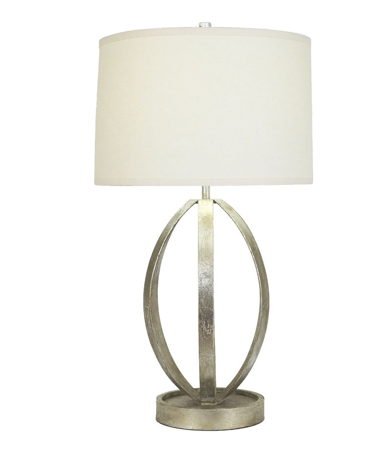 Ana Silver Leaf Table Lamp - Decorative Lamps