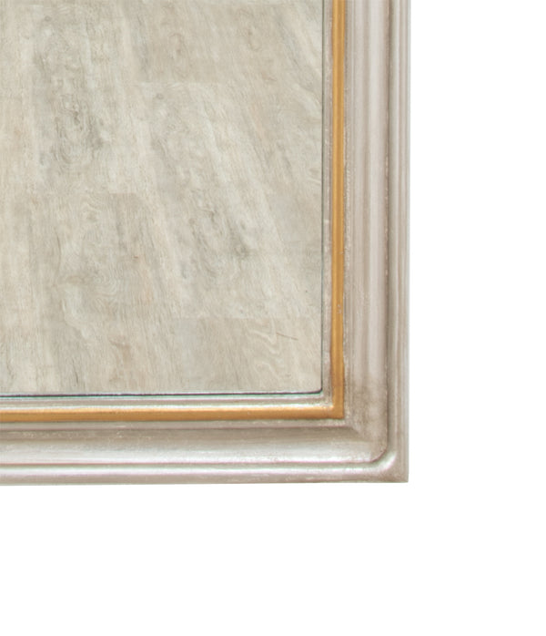 Isla Silver Gold Louis Philippe Floor Mirror- Lillian Home
