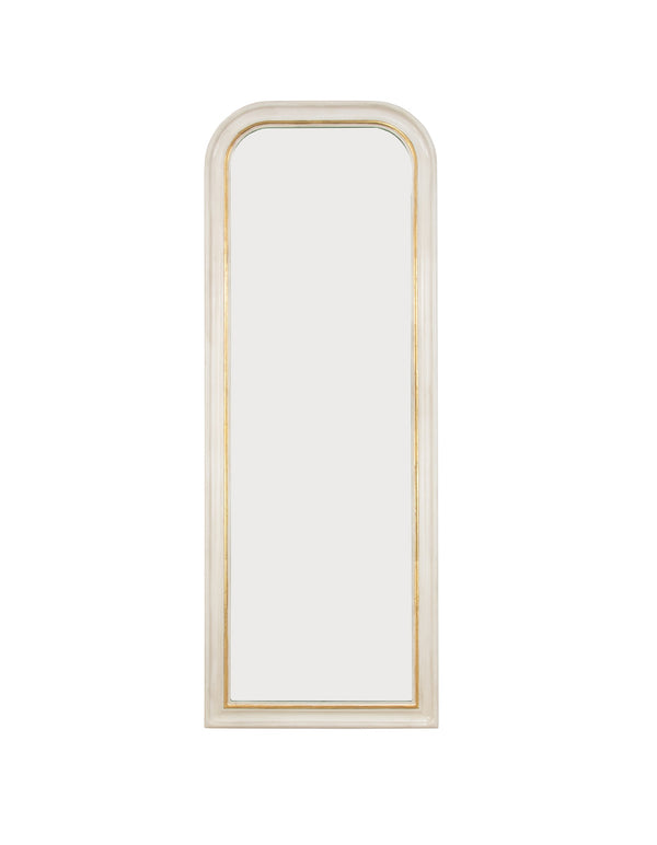 Isla White Gold Louis Philippe Floor Mirror